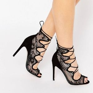 ASOS Design Lace Up Heels